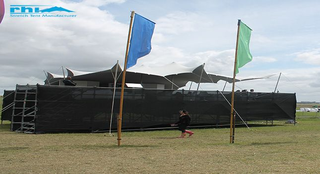 Stretch tents designed for VIP areas at festivals.