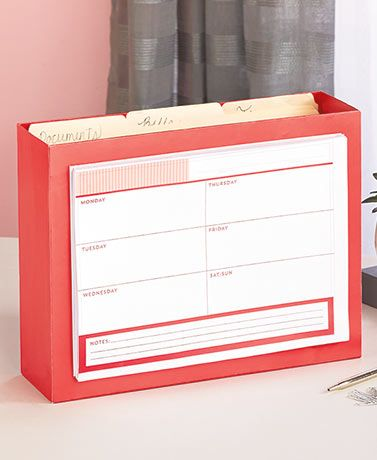 desktop file organizer with planner pad keeps your workspace neat while your files stay in easy