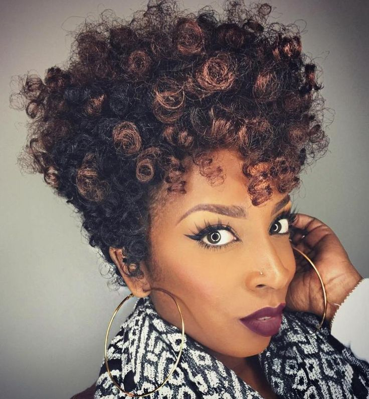 Tapered Afro With Highlights