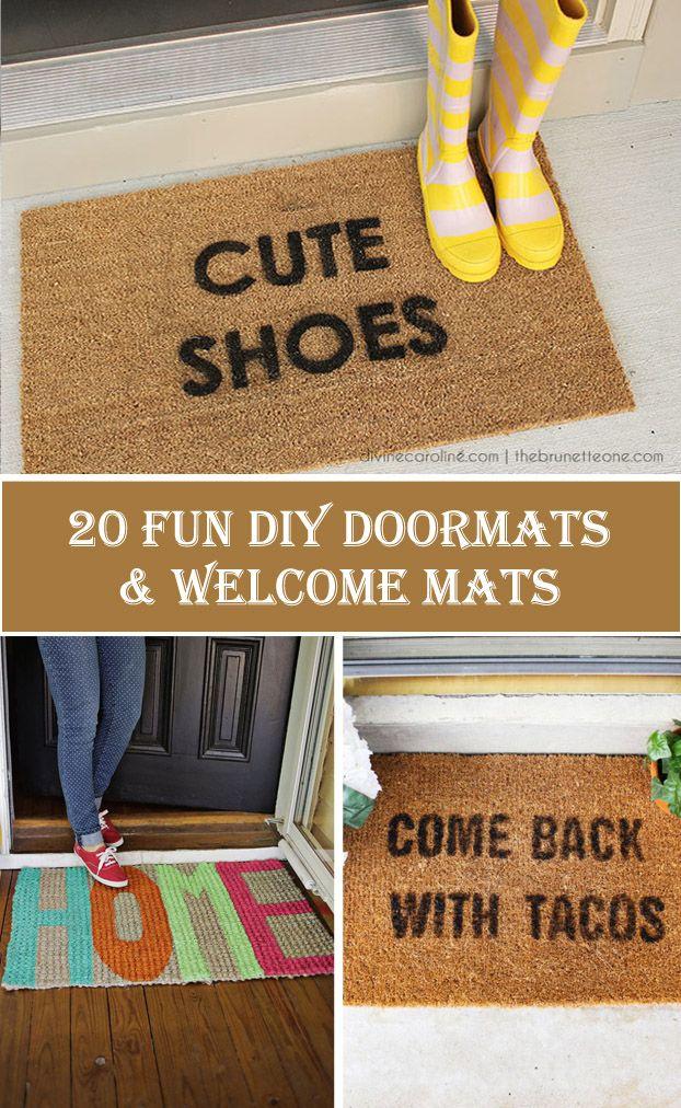 20 Fun DIY Doormats & Welcome Mats
