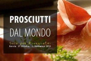 Prosciutto, in Norcia, Umbria's claim to salumi fame.