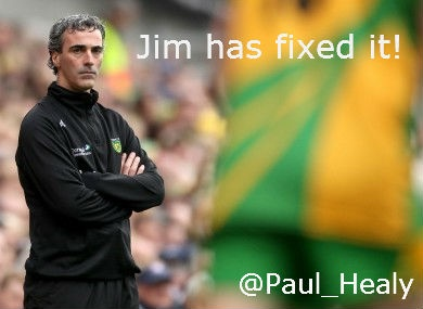 Jim McGuinness has fixed it for Donegal. GAA Football All Ireland Champions 2012.
