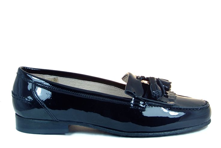 girls black leather shoes | Petasil Alexa 2 Girls School Shoe in Black Patent Leather from ...
