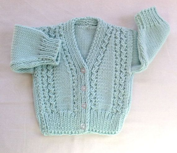 Knit baby cardigan  6  12 months  Baby clothing  by LurayKnitwear