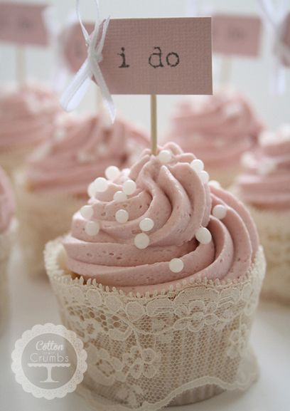"""I Do"" Wedding Cupcakes [Cotton & Crumbs]"