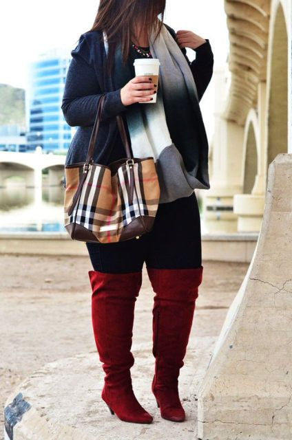 1000  images about Plus Size Thigh High Boots on Pinterest