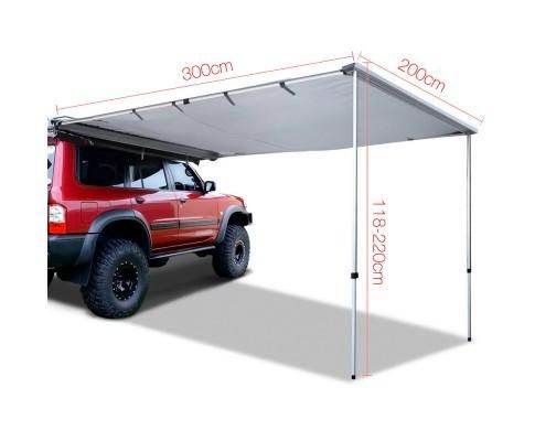 2 X 3M CAR AWNING - GREY      REQUIRES SHIPPING