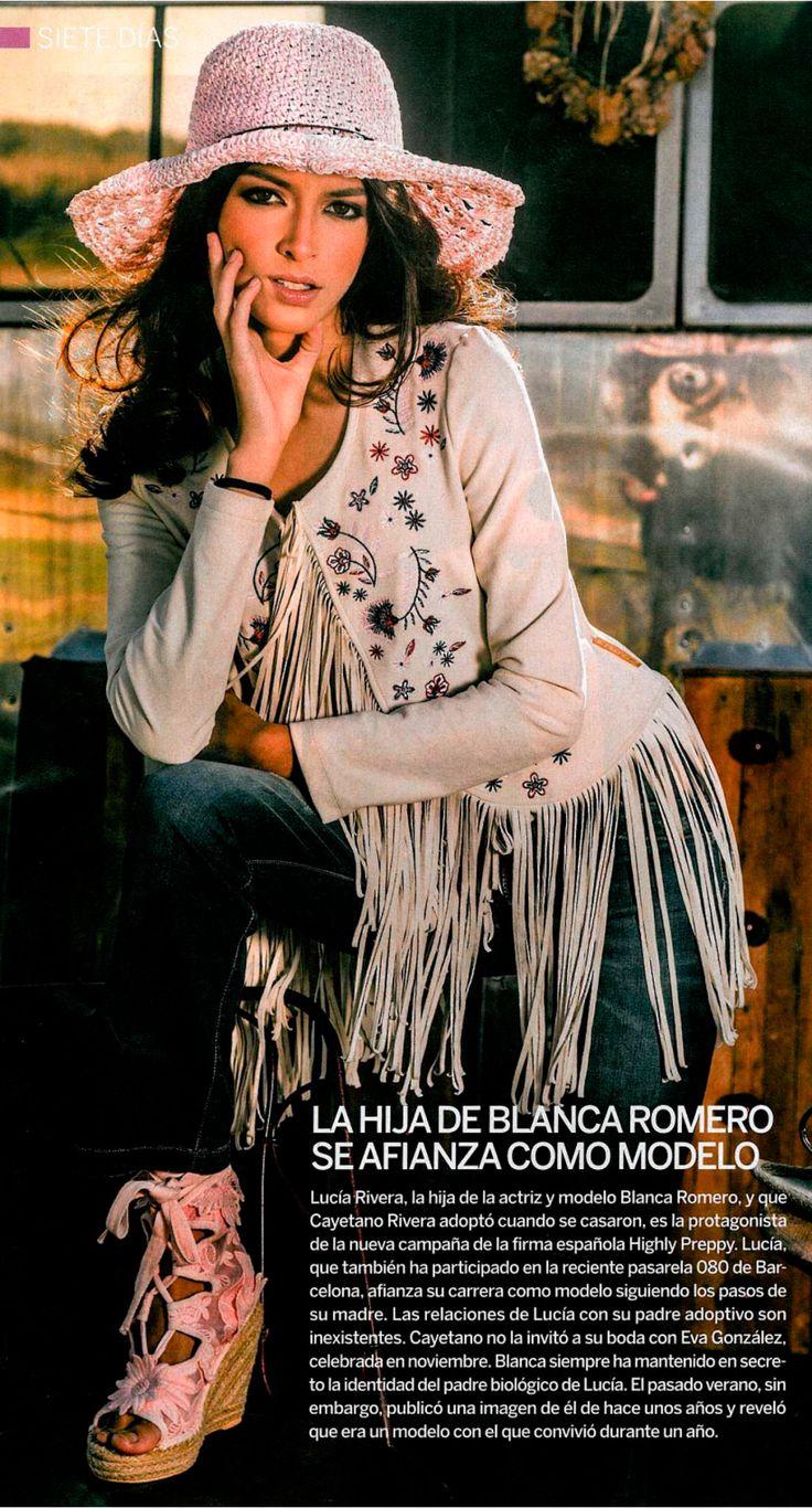 Lucía rivera con chaqueta antelina bordada y pamela crochet - Highly Preppy