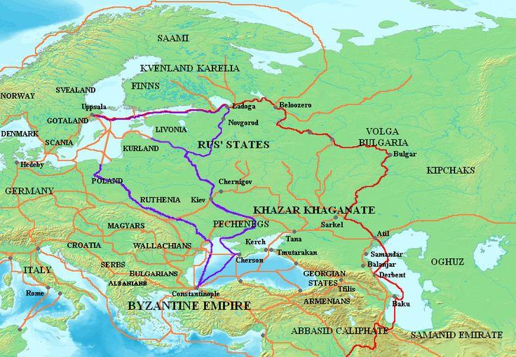 Map And Varangians Rus