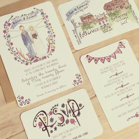 Custom Wedding Invitation Service // by littlemepaperco on Etsy