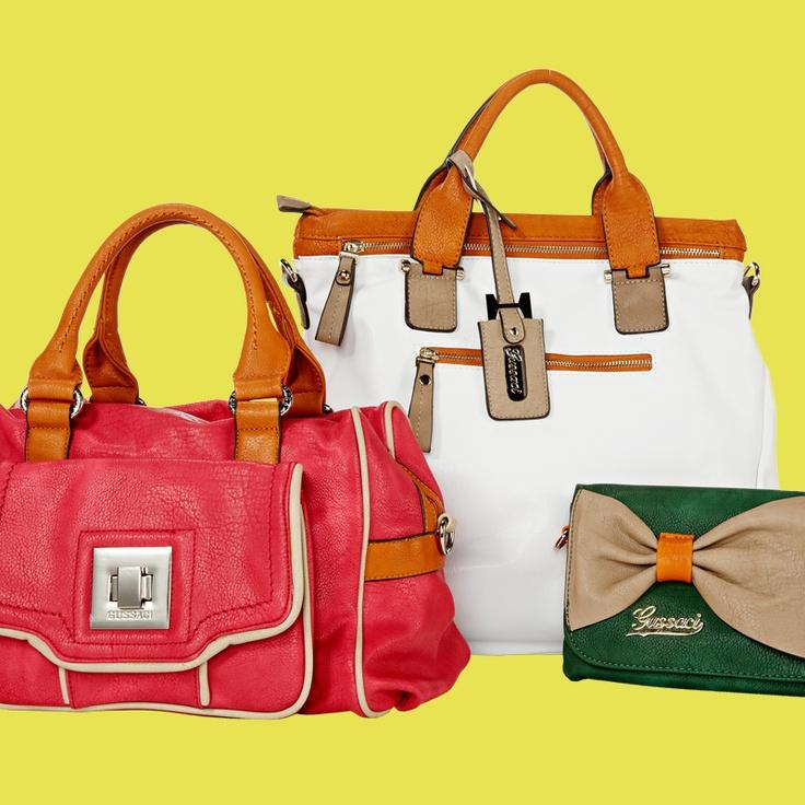Käsilaukkuja kevään trendiväreissä, 25–30 €, norm. alk. 39,95 €, NT-Bags, 2. krs.