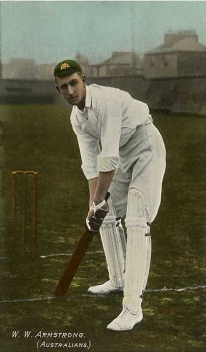 W. W. Armstrong, Cricket Player from Australia