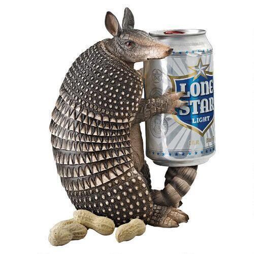 NIB Tex the ARMADILLO Novelty Beverage Can Beer Holder - Perfect Texas Mascot!!