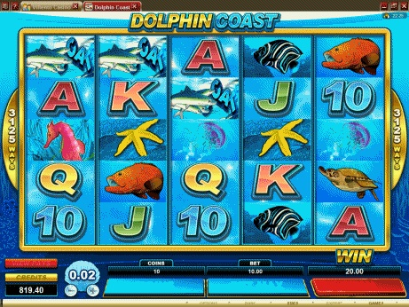 12 Free Spins on Dolphin Coast Slot For New King Neptunes Casino Players (Microgaming - Belle Rock Gaming)