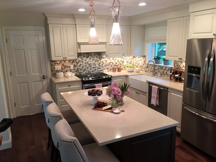 Property Brothers Kitchen with cabinet hardware by Emtek From HGTV