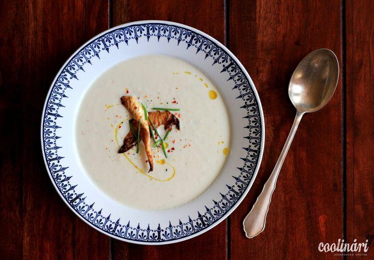 karfiolová zamatová polievka, krémová, recept