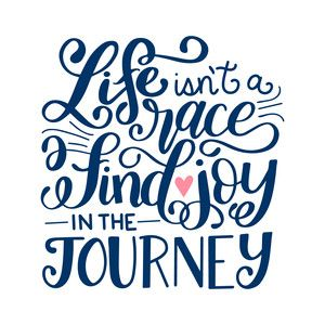 """Silhouette Design Store - Hand Lettered """"joy in the journey"""" design by Dawn Nicole Designs"""