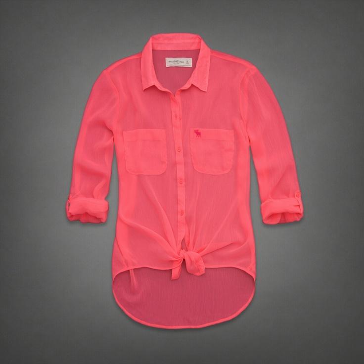 Womens Micah Chiffon Shirt | Womens Fashion Tops | Abercrombie.com    LOVE THIS COLOR TOO!