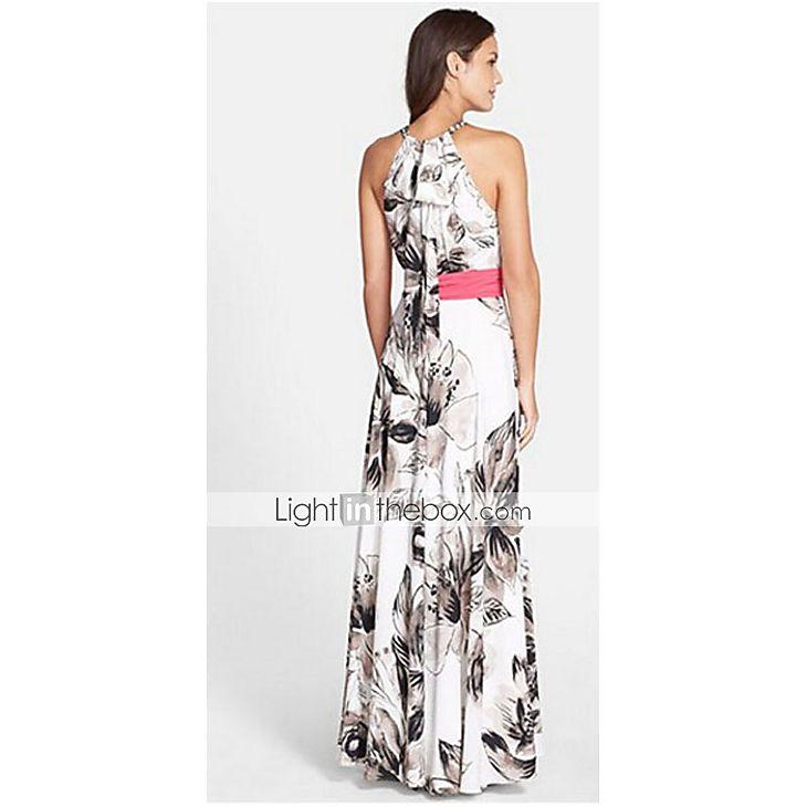 Γυναικεία Φόρεμα Σουρωτά Δένει στο Λαιμό Μακρύ Αμάνικο Σιφόν 3957265 2017 – €12.73