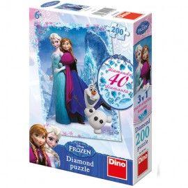 40 de decoratiuni sclipitoare vor face ca Regatul de Gheata sa straluceasca! Cele doua surori, Elsa si Anna, vor fi ghidul tau in asamblarea pieselor de puzzle. Decoreaza imaginea obtinuta folosind cele 40 de pietricele pentru un efect surprinzator! Varsta recomandata: 6 - 8 ani Dimensiunea ambalajului: 17,8 x 26,6 x 6,2 cm Dimensiunea imaginii: 47 x 33 cm Greutate: 0,426 kg