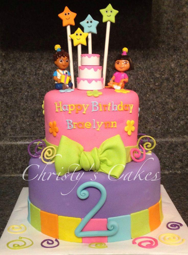 137 best dora the explorer cakes images on Pinterest Dora cake