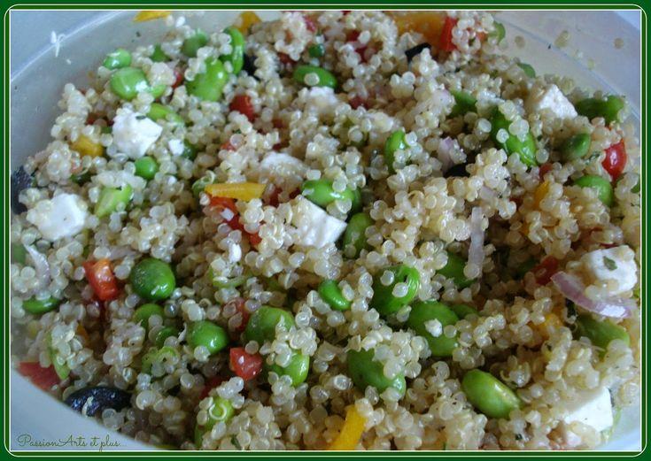 Les recettes de Passionarts et plus...: Salade de quinoa avec fèves Edamame