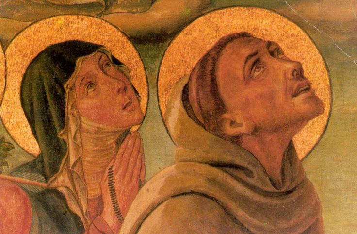 Niccolò Alunno (1430–1502) ~ Saint Clare and Saint Francis of Assisi Gonfalone della Peste ~ Fragment of the processional banner (Banner of the Plague) from the Lower Church of Saint Francis in Assisi ~ circa 1470 ~ Priesterhaus, Kevelaer, Germany