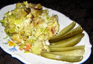 W Mojej Kuchni Lubię.. : na hiszpańską nutę ziemniaki,por,jajka na szybki o...