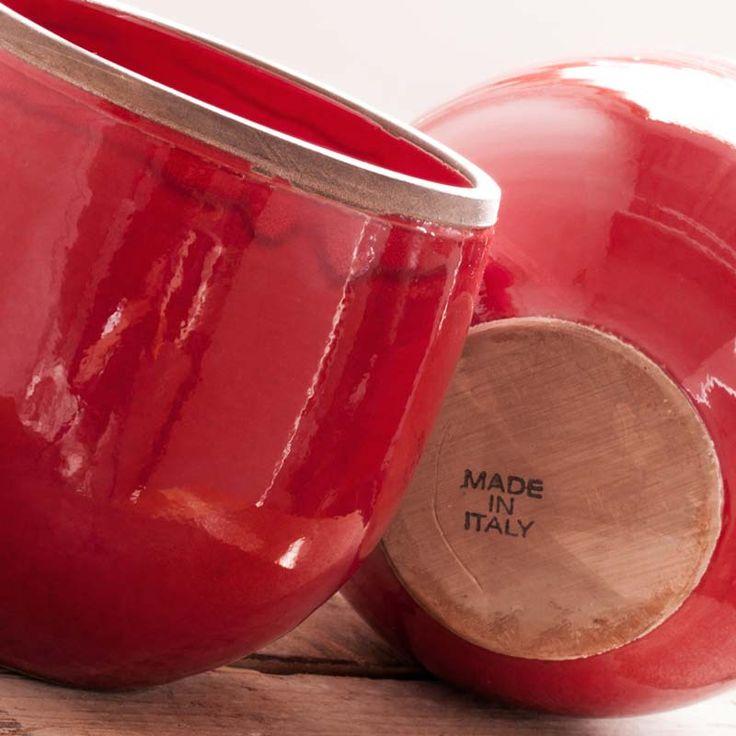 Italian ceramic vases - 100% hand made from STILEITALIA! www.stileitalia.biz