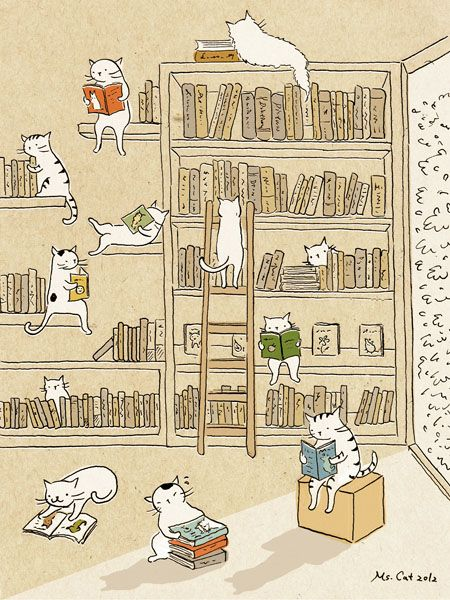 Cute illustrations by Ms. Cat