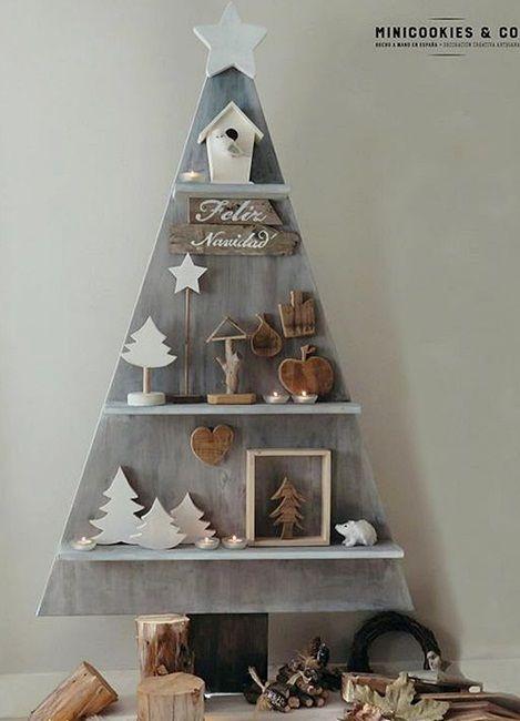 inspiracje w moim mieszkaniu: Choinka z drewna, alternatywa dla tradycyjnej choi...
