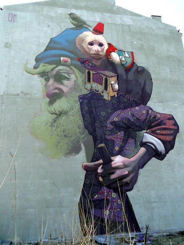 Mural Etam Cru in Warsaw