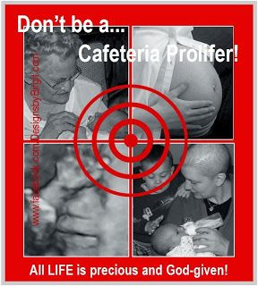 Don't be a Cafeteria Prolifer--Whether reading the Declaration of Independence or the Catechism of the Catholic Church (CCC), one point is saliently clear - each human being has an intrinsic right to life. This right is an absolute - we all have the right to life, period. There are no caveats - there is no 'but' - this God-given right simply is. Why then, do we consistently find delineations made according to age or who one is? <>