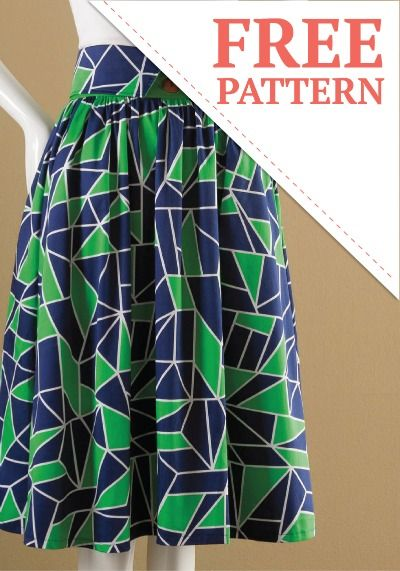 retro diy high waisted skirt free pattern summer