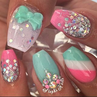 25 best ideas about sparkly acrylic nails on pinterest