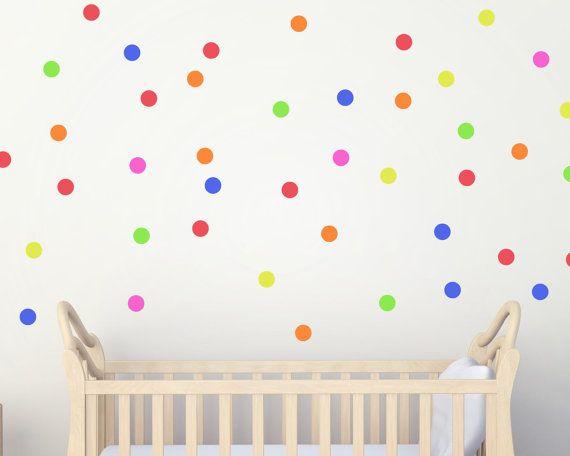 Polka Dot Abziehbilder - Tupfen - Konfetti Kindergarten Dekor Polka Dot Aufkleber Kinderzimmer Wandgestaltung