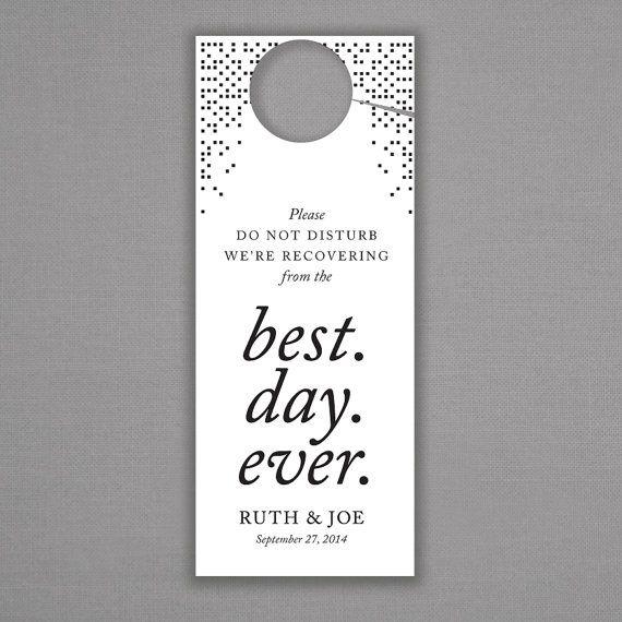 1000 ideas about Wedding Door Hangers on