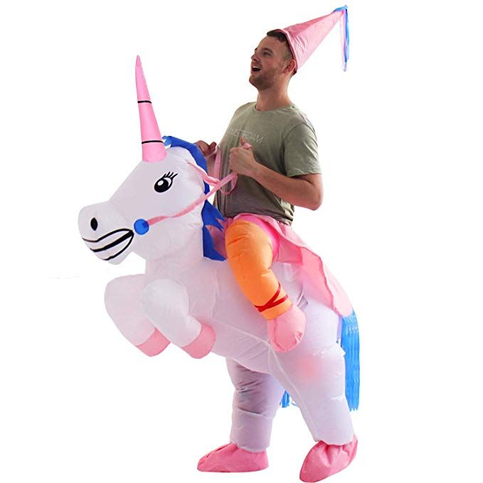 c20e83ec0972 Inflatable Unicorn Halloween Costume ...... Halloween Costumes for Men