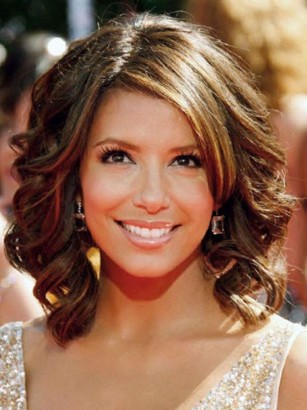 Wavy Hairstyles For Medium Length Hair With Bangs 2014