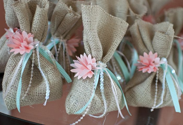 nautical girl or little girl's mermaid party.. i just love these favor bags.