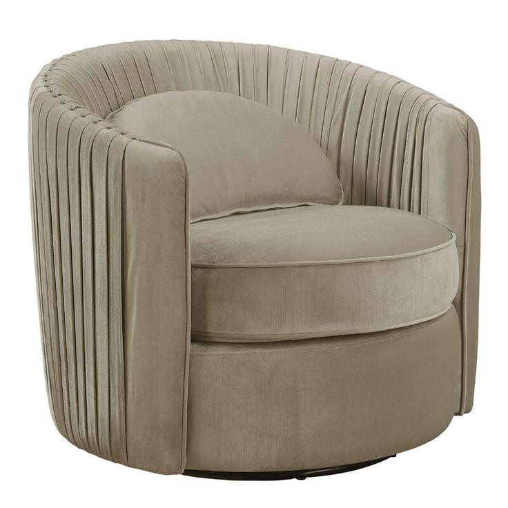 Alan Swivel Barrel Chair & Reviews