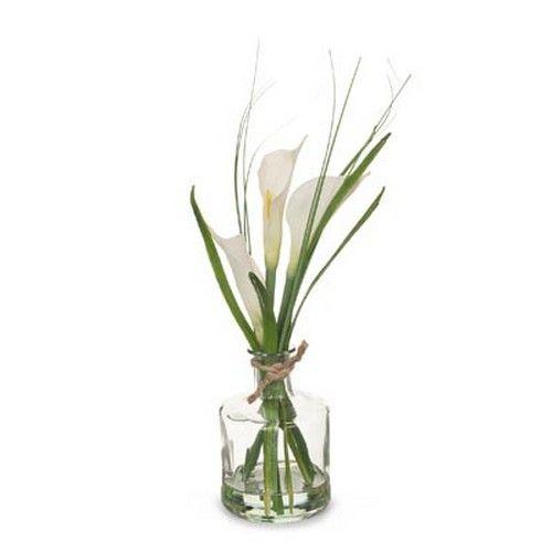 Calla Lily in Bottle White (29H cm) RRP $25