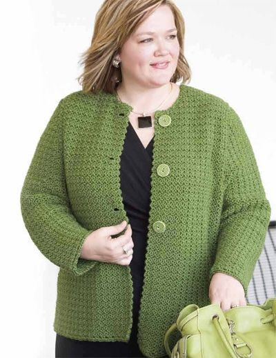 free crochet patterns women's jackets | CROCHET FREE JACKET PATTERN SHORT - Crochet Club: