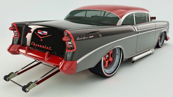 Chevy  Bel Air  (Dragster) Custom  -  1956