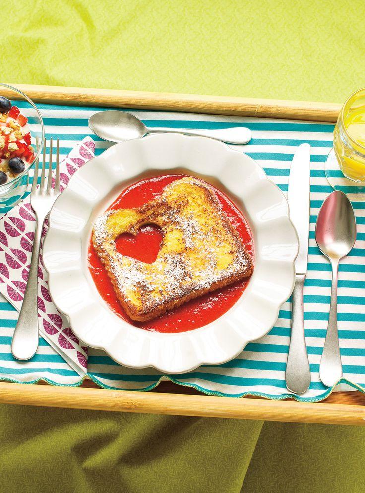 Recette de Ricardo de pain doré et coulis de fraises