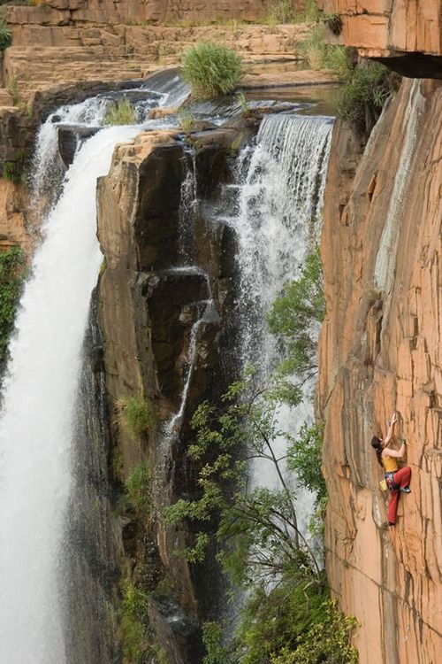 Rock climbing on Waterval Boven. South Africa.  straight up  how hard is this #PembertonFest// pembertonmusicfestival.com