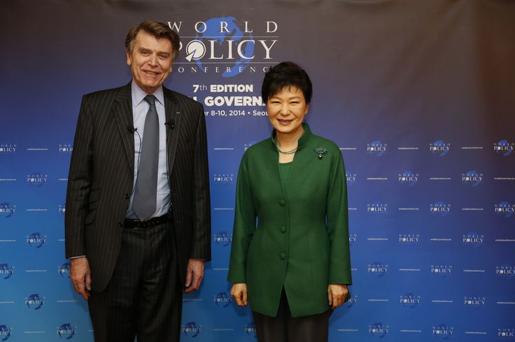 WPC 2014, Seoul - Thierry de Montbrial, President and Founder of the WPC; Park Geun-hye, President of the Republic of Korea