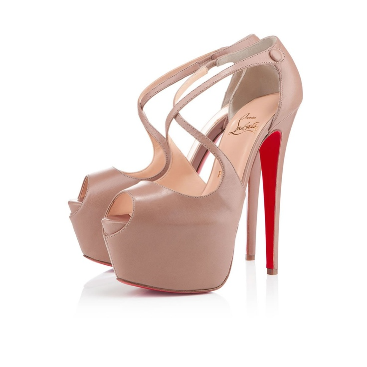 Unique New Christian Louboutin Exagona Leather Sandals Beige Here