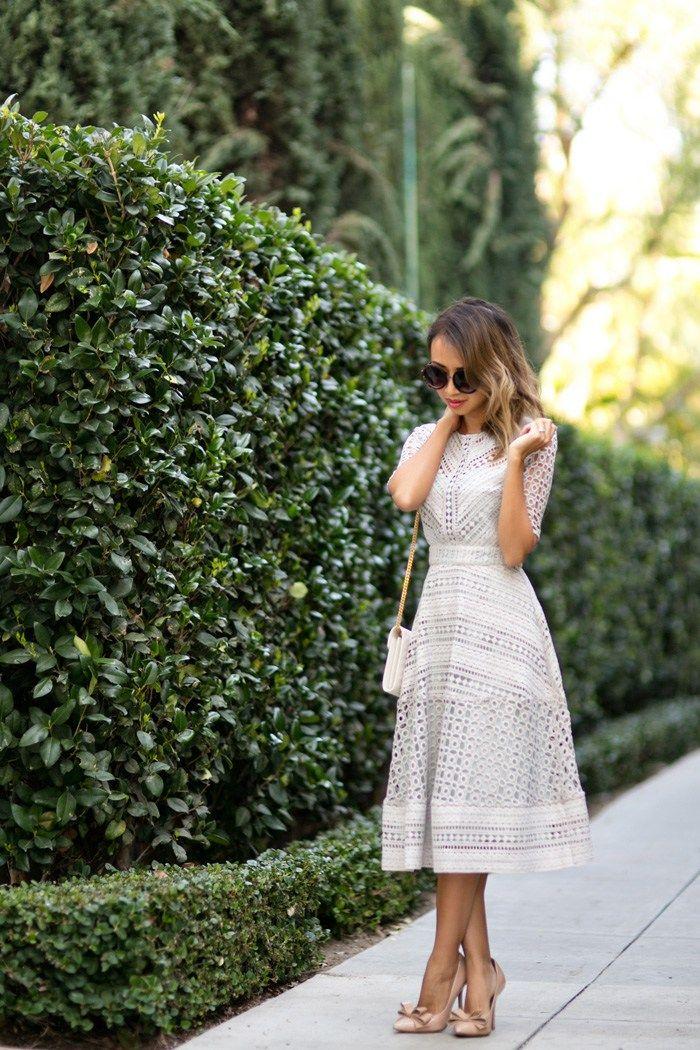 Midi dress fashion blog