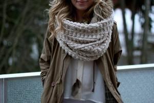 the chunkiest knit scarf